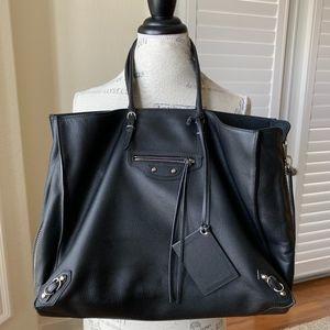 Balenciaga Large Papier Zip-Around A4 Leather Tote